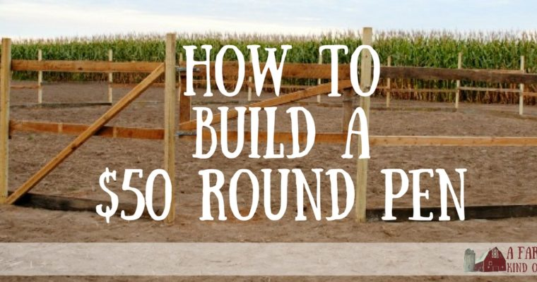 How to Build a $50 Round Pen