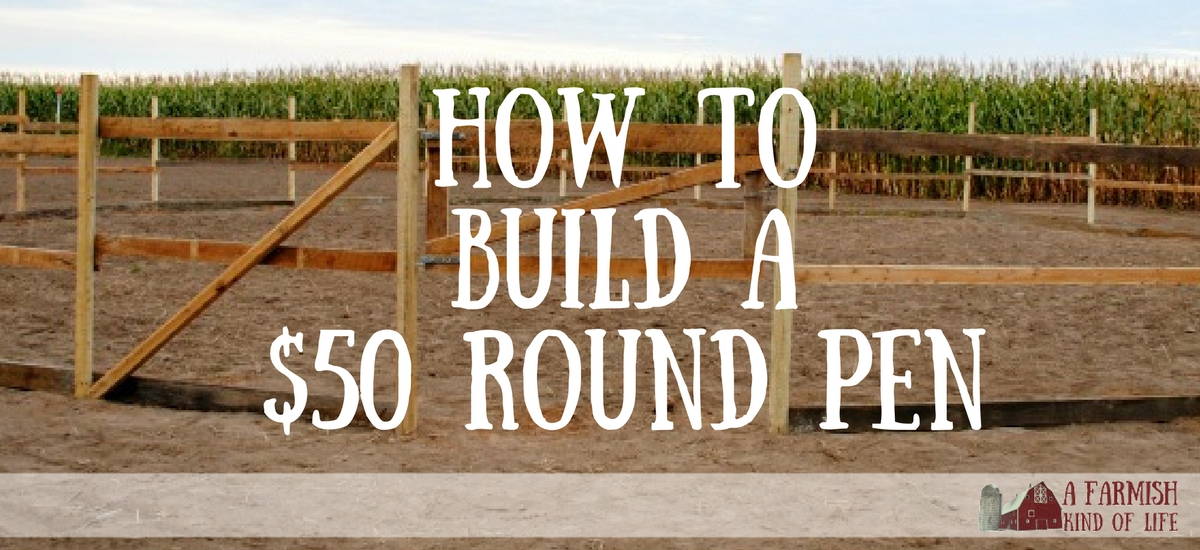 How to Build a Round Pen for Next to Nothing