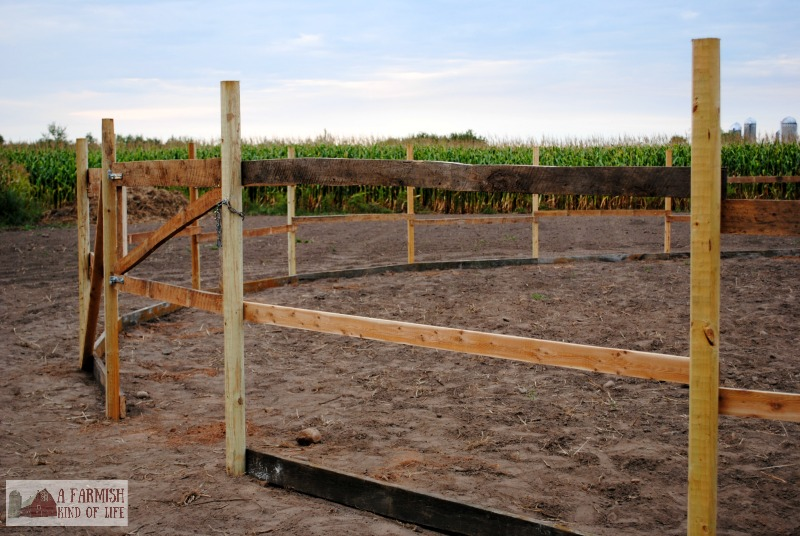 Learn how we made a round pen for only $50. Impossible? Nah. Let me show you how.