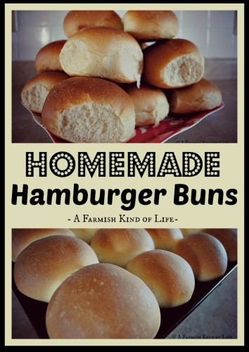 Make Your Own Homemade Hamburger Buns - A Farmish Kind of Life