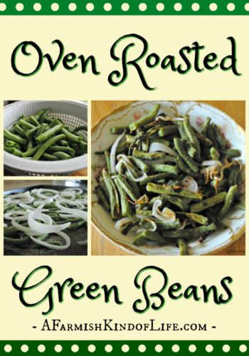 My favorite way to have garden fresh green beans? Easy. Oven Roasted Green Beans - a great way to enjoy your fresh bounty! - A Farmish Kind of Life
