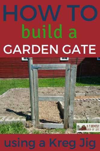 Choosing to fence a garden means you need a gate to get in. Here's how to build a garden gate using a nifty tool called a Kreg Jig.