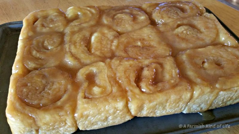 Want fabulous caramel rolls from scratch that are ready in just two hours and have ICE CREAM in their caramel topping? Try these Ice Cream Caramel Rolls from A Farmish Kind of Life!