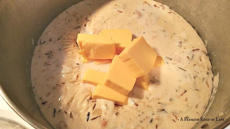 Cheesy Bacon Wild Rice Soup