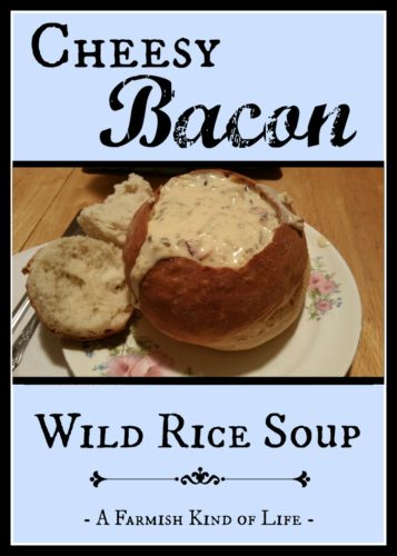 Favoritest special occasion soup ever? Easy. Cheesy Bacon Wild Rice Soup - A Farmish Kind of Life