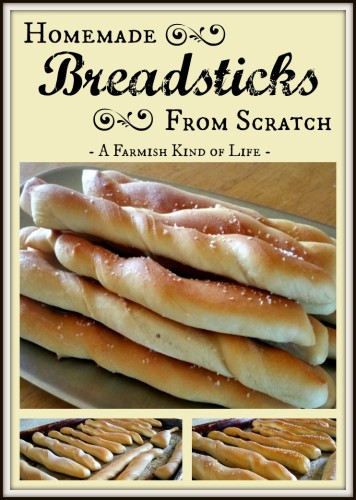 Quick and easy, these breadsticks are made from scratch and totally awesome! -- Homemade Breadsticks from Scratch - A Farmish Kind of Life