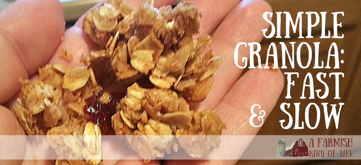 Simple Granola: Fast and Slow