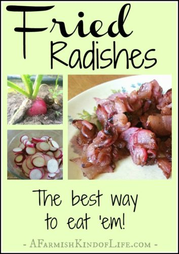 The Best Way to Eat Radishes? Fry Them! - A Farmish Kind of Life