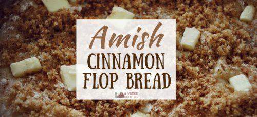 A delicious cinnamon and brown sugar bread named Amish Cinnamon Flop Bread — a name that most certainly does not describe it well. (Hint: It is NOT a flop.)