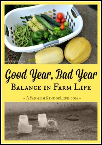 Good Year, Bad Year: Balance on the Farm - A Farmish Kind of Life