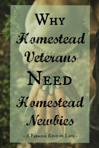 Why Homestead Veterans Need Homestead Newbies - A Farmish Kind of Life