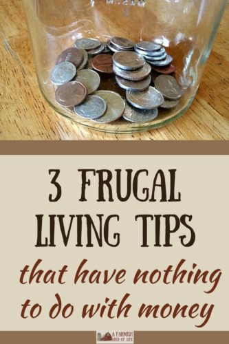 Successful frugal living has to do with money, right? Not completely. Here are 3 helpful tips for frugal living that have *nothing* to do with money.