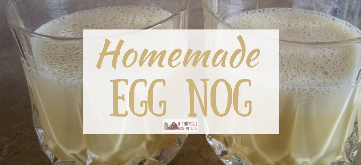 Homemade Egg Nog for Two