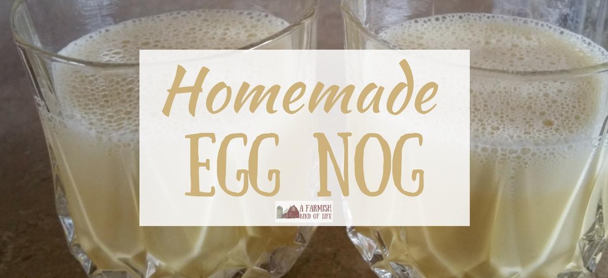 Homemade Egg Nog for Two
