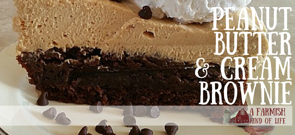 Peanut Butter and Cream Brownies