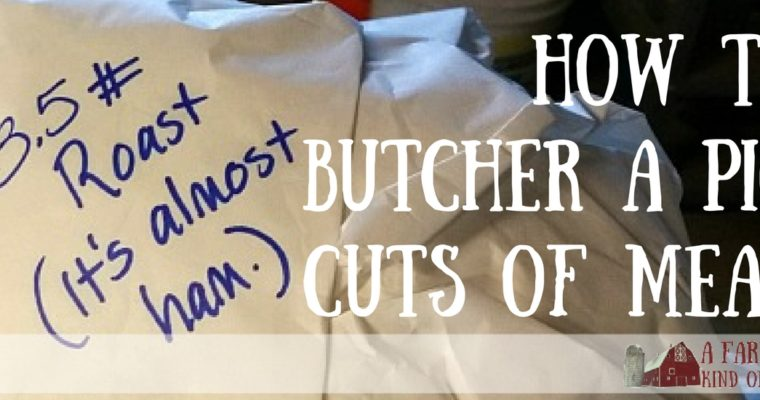 How to Butcher a Pig: Cuts of Meat