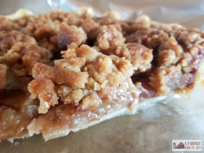 Apple pie is always delicious, but a French Apple Pie with a crumbly, cinnamon sugar top is one of my favorites.