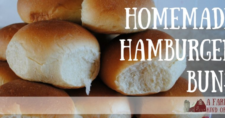 Make Your Own Homemade Hamburger Buns