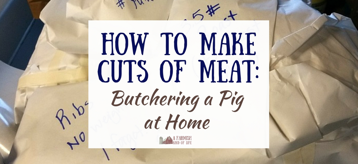 How to Make Cuts of Meat: Butchering a Pig at Home