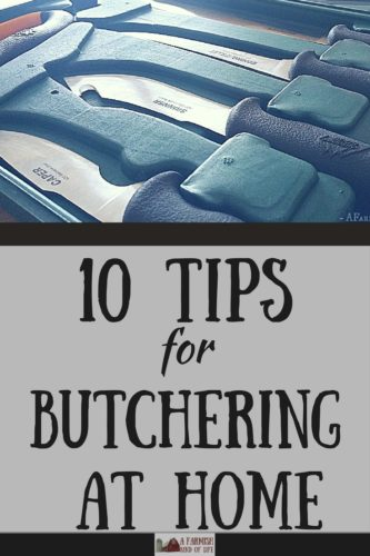 There's nothing more satisfying than raising your own food. Here are 10 tips for butchering at home that will help the process go more smoothly for you.
