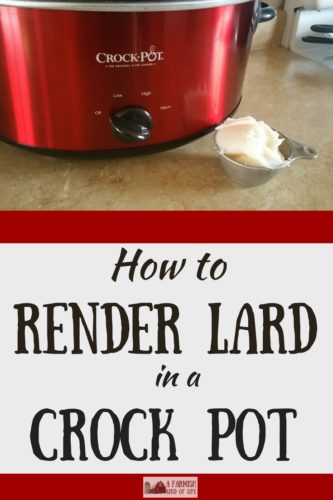 Rendering lard doesn't have to be complicated. You can do this! Take a deep breath and let me show you how to render lard in your Crock Pot.