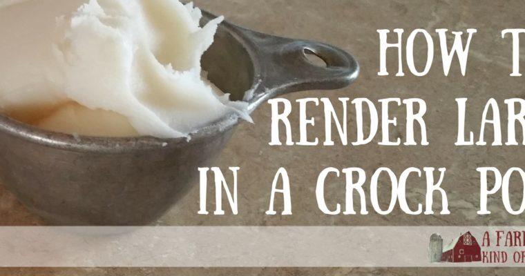How to Render Lard in a Crock Pot