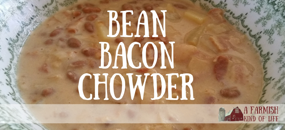 Bean Bacon Chowder - an easy favorite soup that reminds me of my childhood.