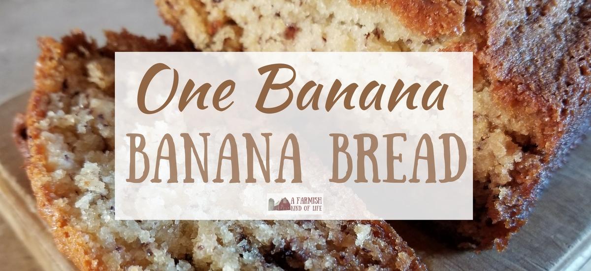 """""""One Banana"""" Banana Bread"""