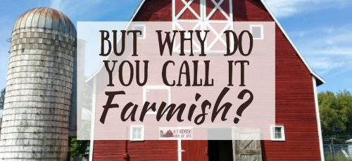 """A lot of people ask why, when I'm so busy on our homestead, that I choose to refer to our life as farm""""ish"""". Here is my explanation."""