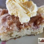Sour Cream Rhubarb Cake tastes like heaven on the homestead with its thick rhubarby batter and streusel topping. Sure to become a favorite at your house!