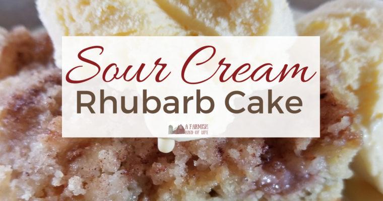 Sour Cream Rhubarb Cake