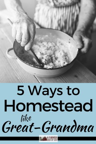 It won't ever be the old days again, but we can still homestead like great-grandma did. Here are 5 pieces of advice to use in your modern day homesteading.
