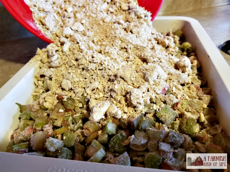 A simple but shamelessly delicious recipe for rhubarb crisp because of one word: butter. And lots of it. It's my favorite!