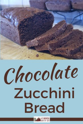 Chocolate Zucchini Bread is a tasty way to make use of those giant zucchinis that grew overnight in your garden...or were dropped off by your neighbor.