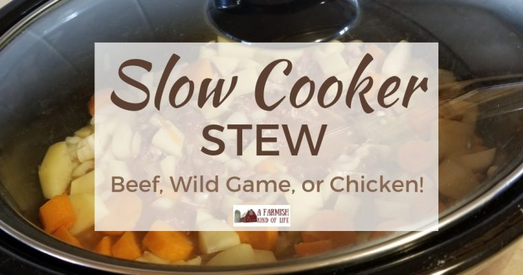 Slow Cooker Stew: Beef, Wild Game, or Chicken!