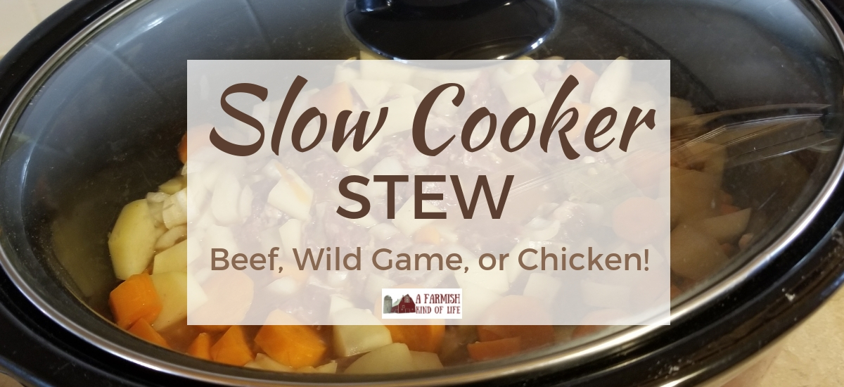 Slow Cooker Stew: Beef, Wild Game, or Chicken!