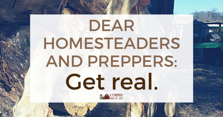 Dear homesteaders and preppers: get real