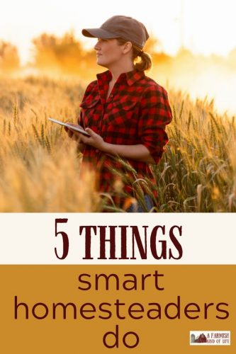Smart homesteaders do many things in order to run an efficient and happy homestead. Here are the five that I think are most important.