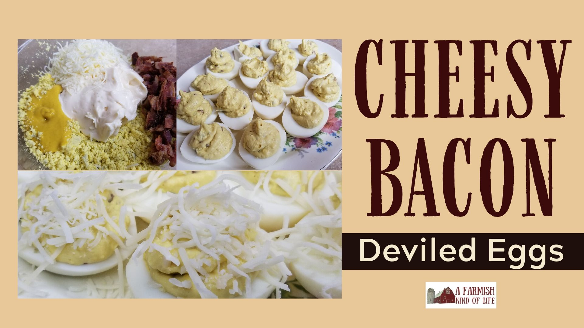 Cheesy Bacon Deviled Eggs