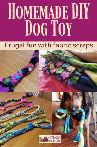 Let me share with you today how I make a homemade DIY dog toy using something I've got a lot of, and maybe you do, too: scrap fabric.