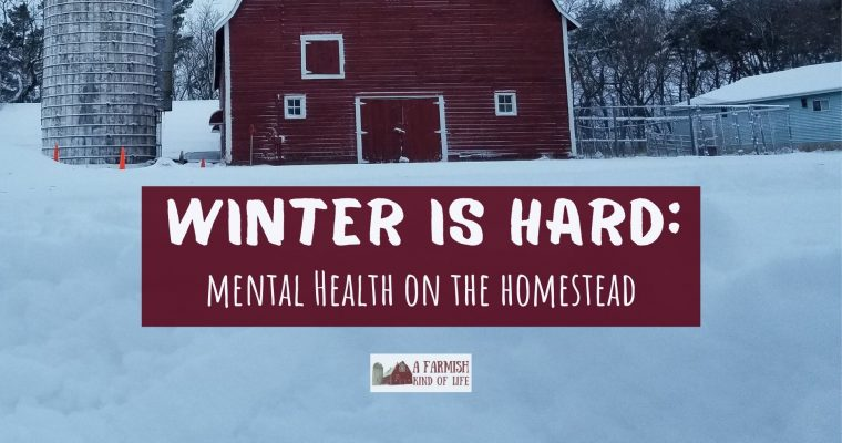 77: Because winter is hard (mental health for homesteaders)