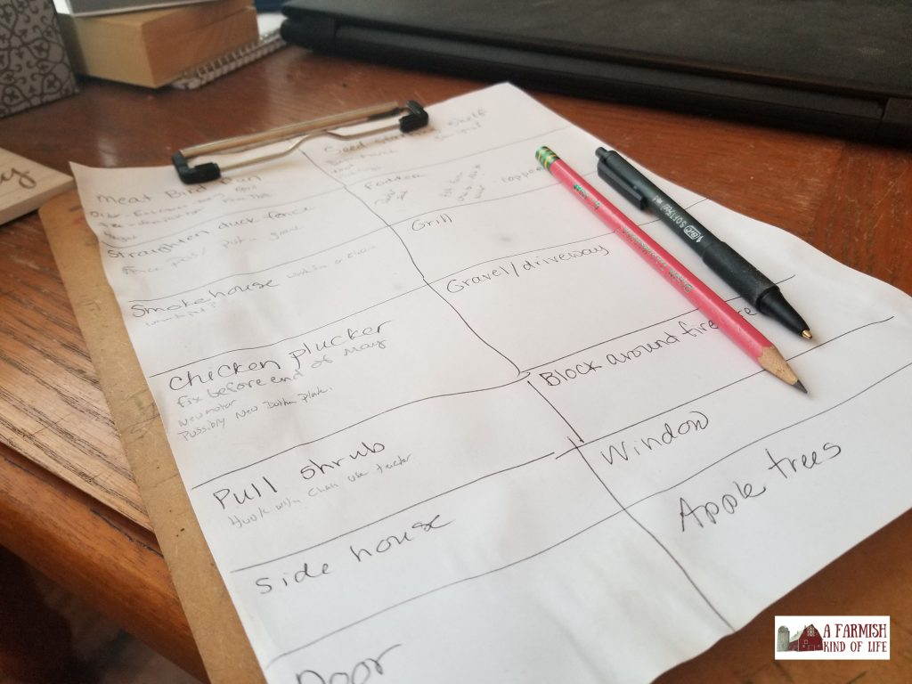 It helps to write stuff down. Keep track of items and plan things out with these 9 lists, and you'll be on your way to great homestead organization!