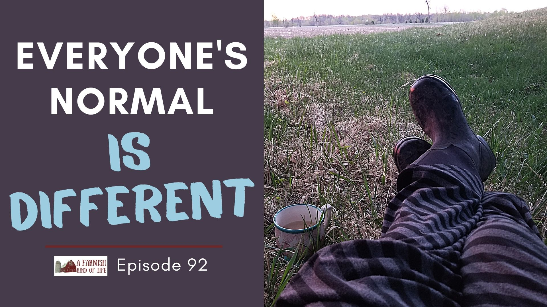 92: Everyone's normal is different