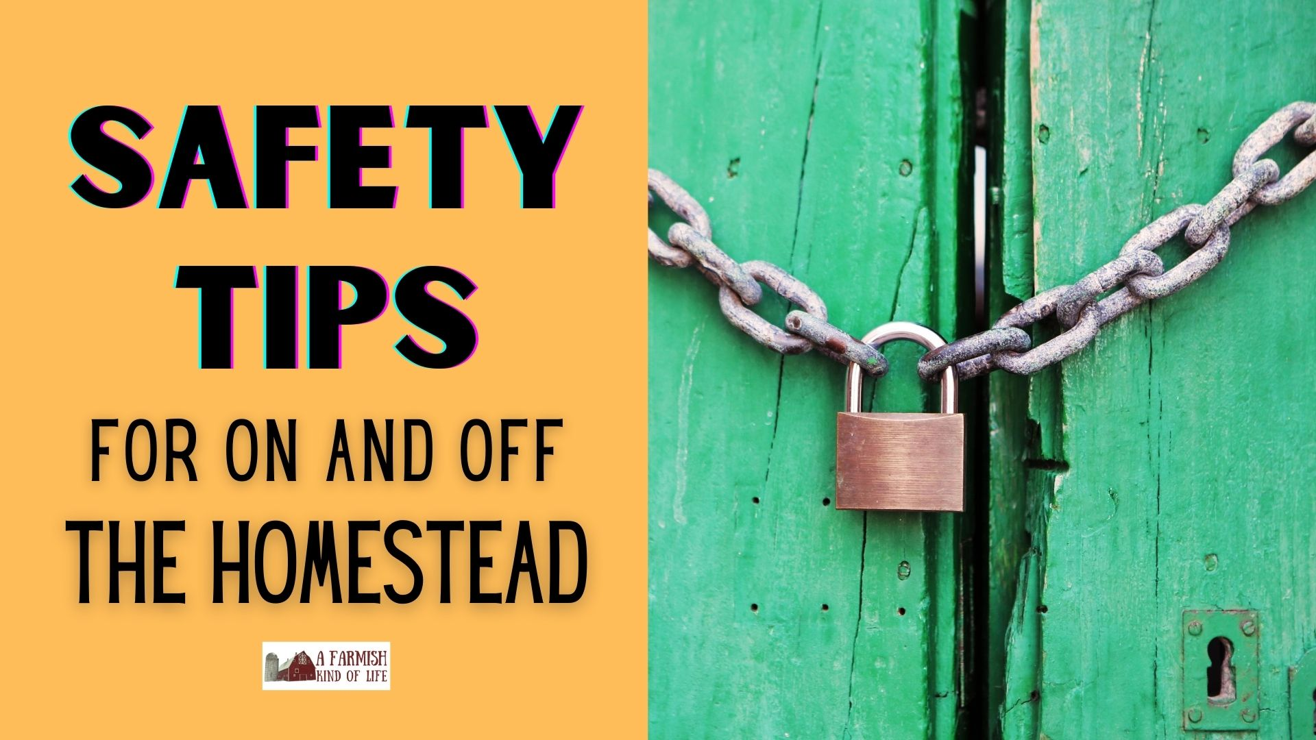 100: Safety Tips for the Homestead and Beyond