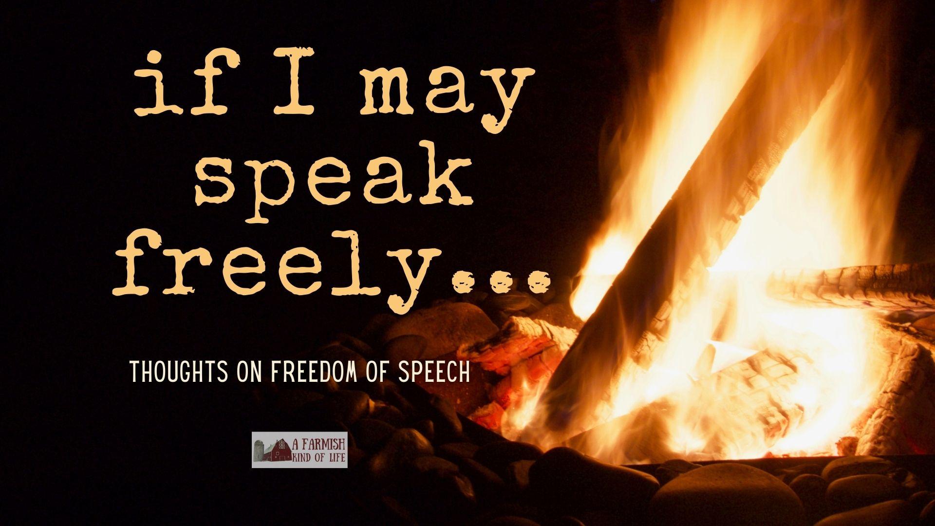 106: If I May Speak Freely: Freedom of Speech