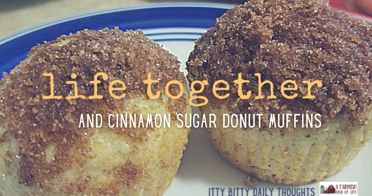 life together (and cinnamon sugar donut muffins): itty bitty thoughts