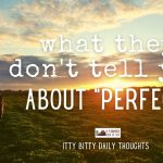 what they don't tell you about perfect (itty bitty thoughts)