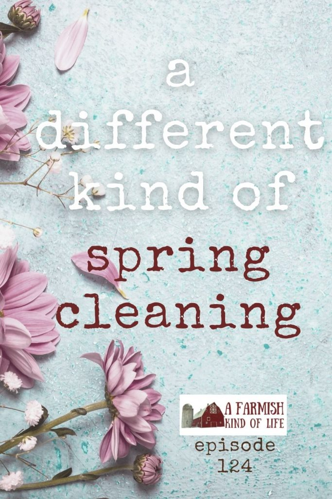 """Spring cleaning isn't just for your house. It's for you life and your """"self"""", too. And, crazy as it sounds, I would argue it's part of prepping."""