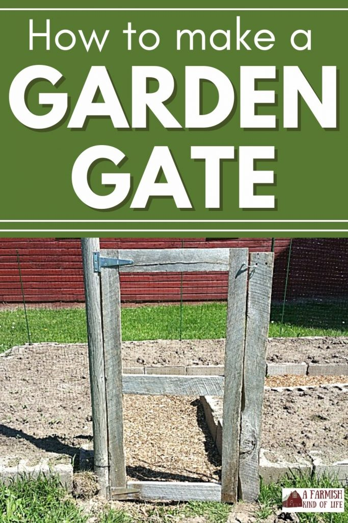 Image of completed garden gate, hung and ready to use in the garden.