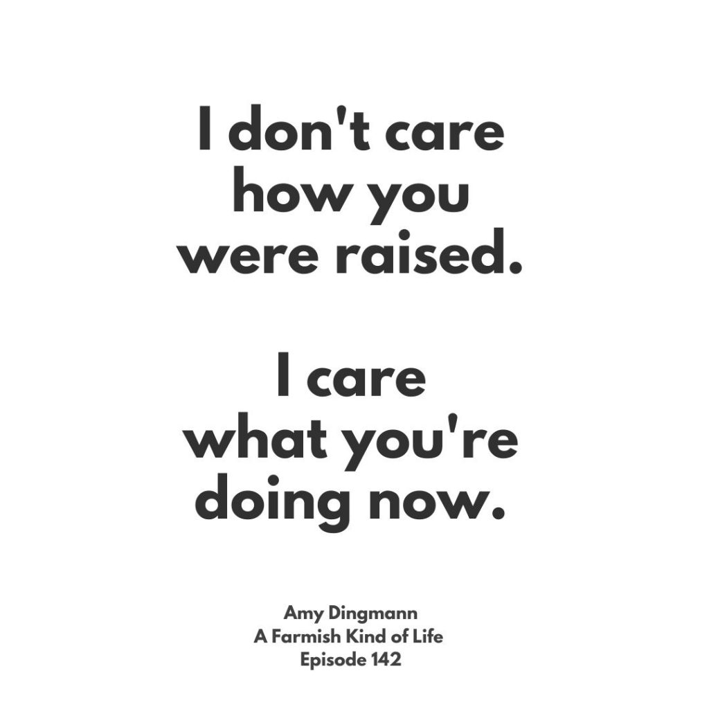 Quote from attached article: I don't care how you were raise, I care what you're doing now.